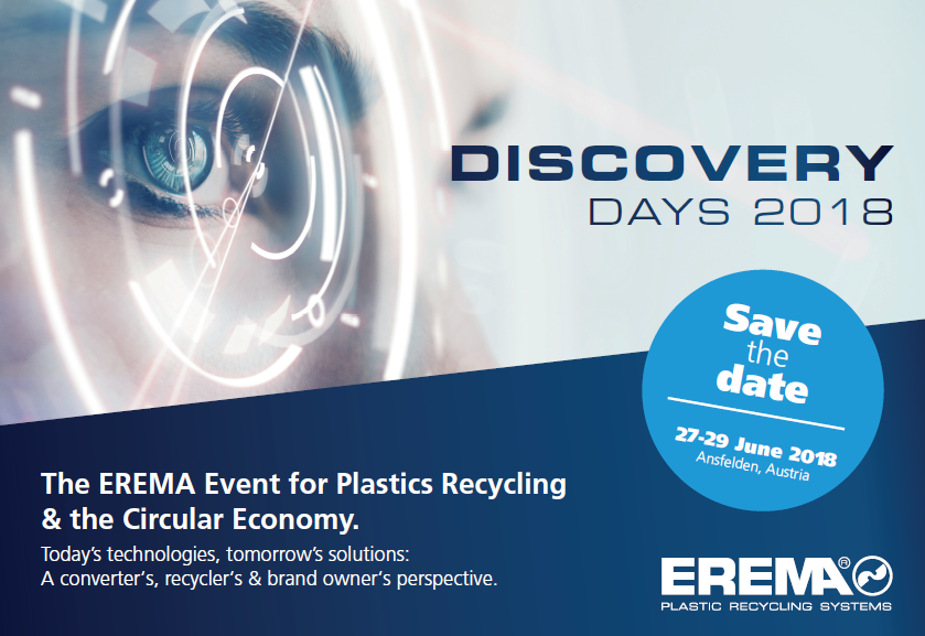 SAVE THE DATE – EREMA Discovery Days 2018